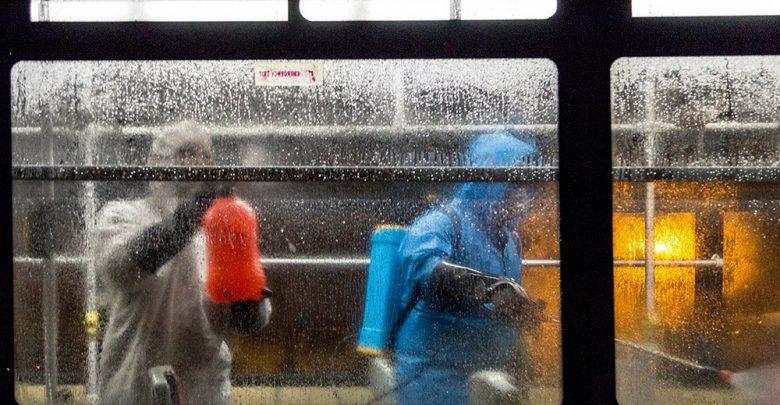 ضدعفونی و شستشوی ناوگان اتوبوسرانی تبریز